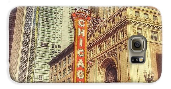City Galaxy S6 Case - Chicago Theatre #chicago by Paul Velgos