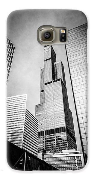 Chicago Willis-sears Tower In Black And White Galaxy S6 Case by Paul Velgos