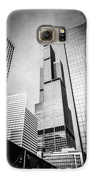 Chicago Willis-sears Tower In Black And White Galaxy S6 Case