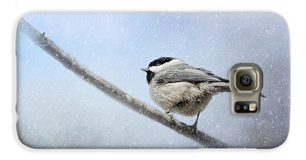 Chickadee In The Snow Galaxy S6 Case by Jai Johnson