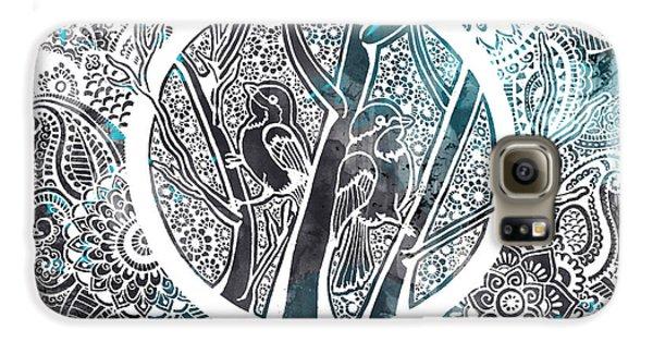 Decorative Galaxy S6 Case - Chickadees by Andrea Stephenson