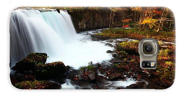 Choushi - Ootaki Waterfall In Autumn Galaxy S6 Case