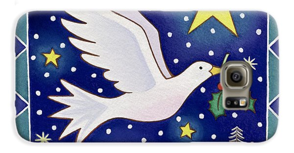Christmas Dove  Galaxy S6 Case by Cathy Baxter