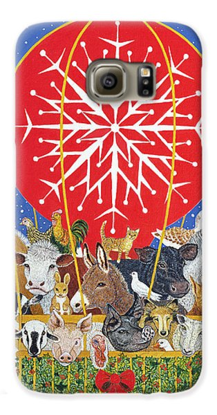 Christmas Journey Oil On Canvas Galaxy S6 Case by Pat Scott