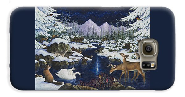 Otter Galaxy S6 Case - Christmas Wonder by Lynn Bywaters