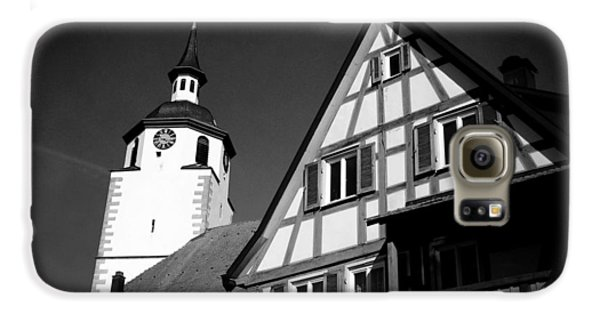 Church And Half-timbered House In Lovely Old Town Galaxy S6 Case