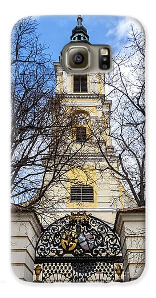 Church Tower With Wrought Iron Gate  Grossweikersdorf Austria Galaxy S6 Case