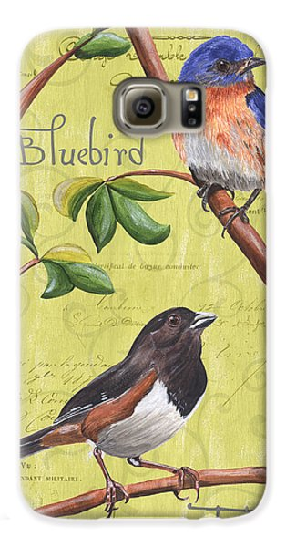 Bluebird Galaxy S6 Case - Citron Songbirds 1 by Debbie DeWitt