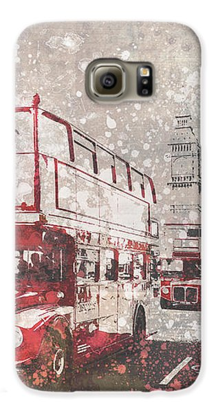 City-art London Red Buses II Galaxy S6 Case by Melanie Viola