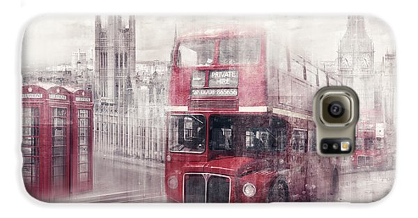 City-art London Westminster Collage II Galaxy S6 Case by Melanie Viola