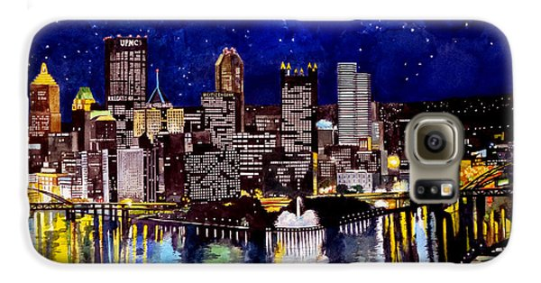 Pegasus Galaxy S6 Case - City Of Pittsburgh At The Point by Christopher Shellhammer