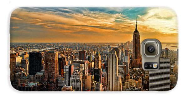City Sunset New York City Usa Galaxy S6 Case by Sabine Jacobs