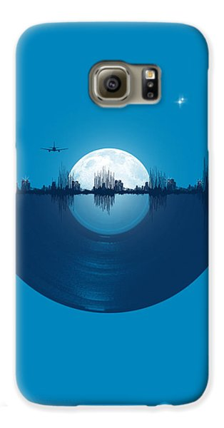 Space Galaxy S6 Case - City Tunes by Neelanjana  Bandyopadhyay