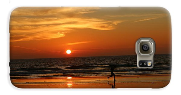 Clam Digging At Sunset - 3 Galaxy S6 Case