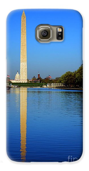 Washington Monument Galaxy S6 Case - Classic Washington by Olivier Le Queinec