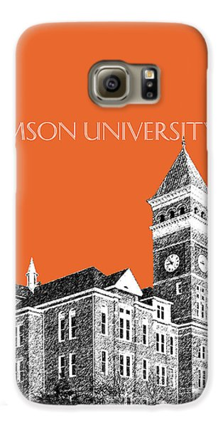 Clemson University - Coral Galaxy S6 Case by DB Artist