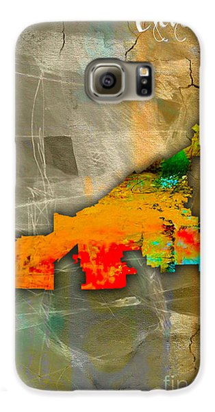Cleveland Map Watercolor Galaxy S6 Case by Marvin Blaine