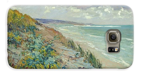 Landscape Galaxy S6 Case - Cliffs By The Sea At Trouville  by Gustave Caillebotte