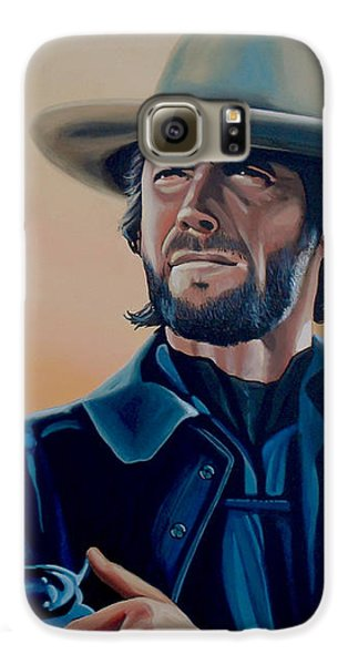 Eagle Galaxy S6 Case - Clint Eastwood Painting by Paul Meijering