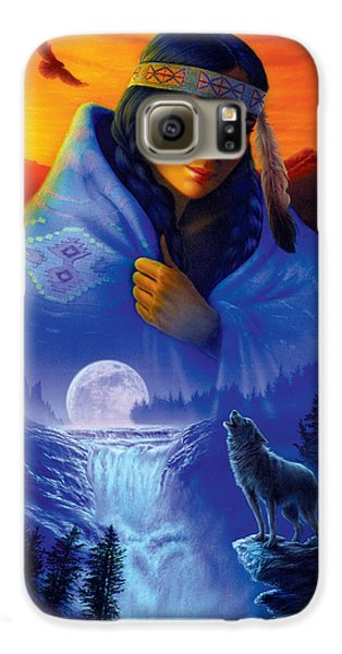 Cloak Of Visions Portrait Galaxy S6 Case by Andrew Farley