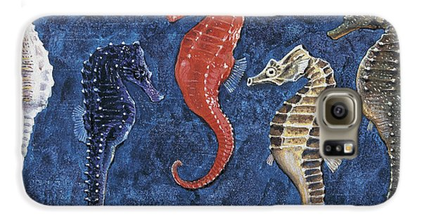 Close-up Of Five Seahorses Side By Side  Galaxy S6 Case