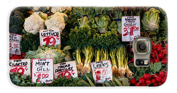 Close-up Of Pike Place Market, Seattle Galaxy S6 Case by Panoramic Images