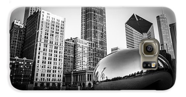 Cloud Gate Bean Chicago Skyline In Black And White Galaxy S6 Case