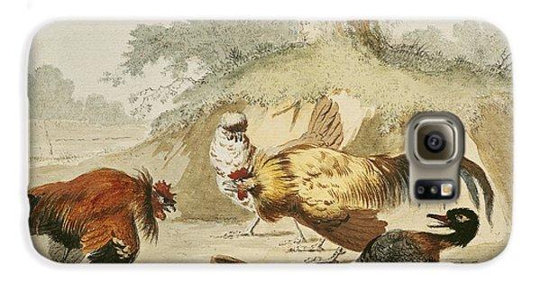 Cocks Fighting Galaxy S6 Case by Melchior de Hondecoeter