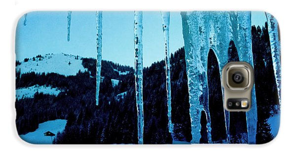 Blue Galaxy S6 Case - Cold Outside - Icicles In Winter by Matthias Hauser