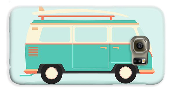 Automobile Galaxy S6 Case - Color Full Surfer Van. Transportation by Guaxinim