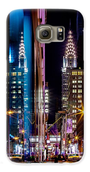 Skylines Galaxy S6 Case - Color Of Manhattan by Az Jackson