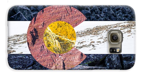 Colorado State Flag With Mountain Textures Galaxy S6 Case