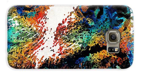 Colorful Bear Art - Bear Stare - By Sharon Cummings Galaxy S6 Case