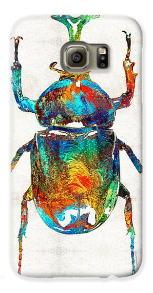 Colorful Beetle Art - Scarab Beauty - By Sharon Cummings Galaxy S6 Case