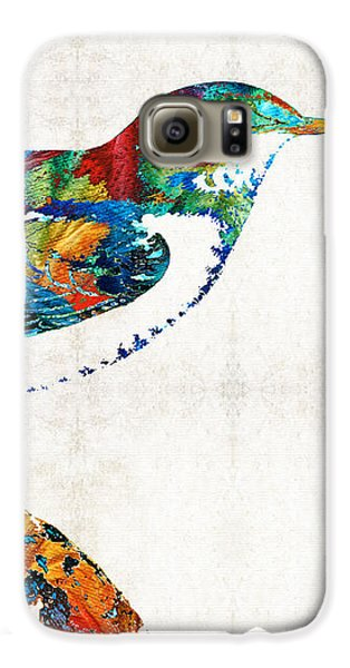 Colorful Bird Art - Sweet Song - By Sharon Cummings Galaxy S6 Case by Sharon Cummings