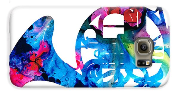 Colorful French Horn 2 - Cool Colors Abstract Art Sharon Cummings Galaxy S6 Case by Sharon Cummings