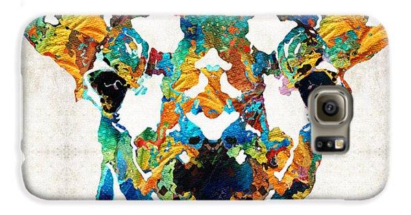 Colorful Giraffe Art - Curious - By Sharon Cummings Galaxy S6 Case