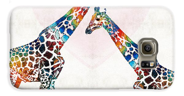 Colorful Giraffe Art - I've Got Your Back - By Sharon Cummings Galaxy S6 Case by Sharon Cummings