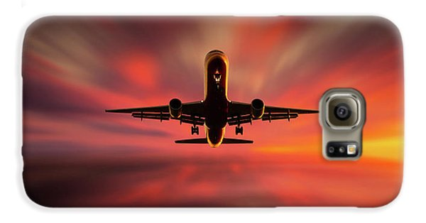 Airplanes Galaxy S6 Case - Colorful Landing. by Leif L?ndal