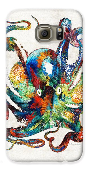 Reef Shark Galaxy S6 Case - Colorful Octopus Art By Sharon Cummings by Sharon Cummings