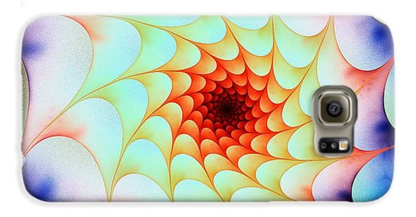 Galaxy S6 Case featuring the digital art Colorful Web by Anastasiya Malakhova
