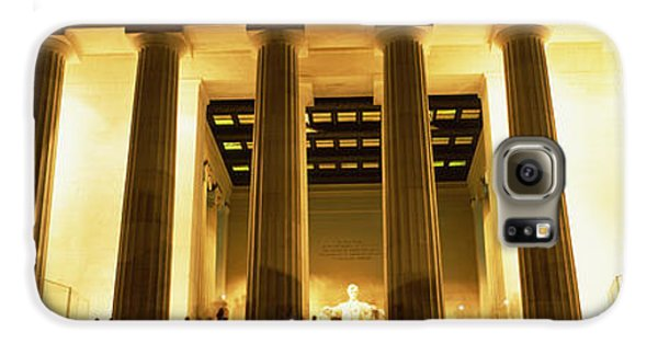 Columns Surrounding A Memorial, Lincoln Galaxy S6 Case by Panoramic Images
