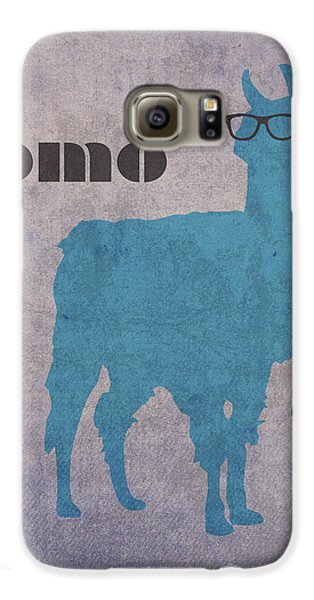 Como Te Llamas Humor Pun Poster Art Galaxy S6 Case by Design Turnpike