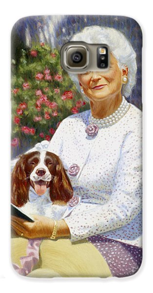 George Bush Galaxy S6 Case - Companions In The Garden by Candace Lovely