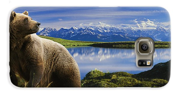 Composite Grizzly Stands In Front Of Galaxy S6 Case by Michael Jones