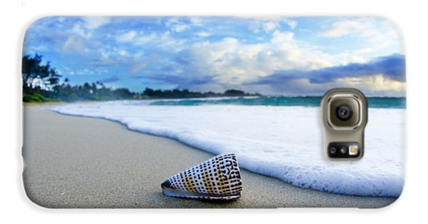Beach Galaxy S6 Case - Cone Foam by Sean Davey
