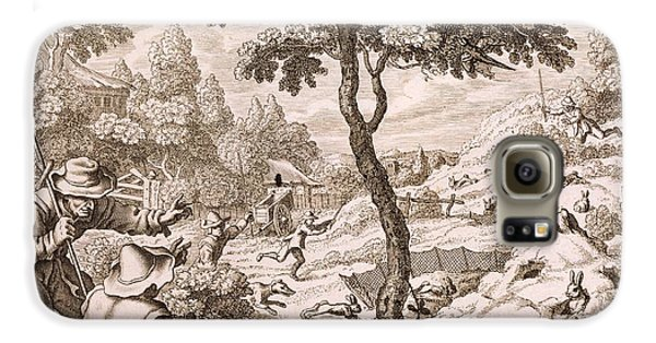 Cony Catching, Engraved By Wenceslaus Galaxy S6 Case by Francis Barlow