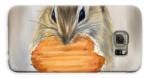 Cookie Time- Squirrel Eating A Cookie Galaxy S6 Case by Lourry Legarde