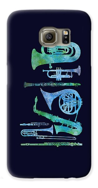 Cool Blue Band Galaxy S6 Case by Jenny Armitage