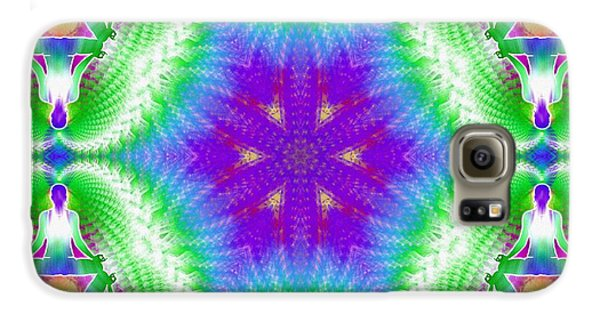 Cosmic Spiral Kaleidoscope 10 Galaxy S6 Case by Derek Gedney